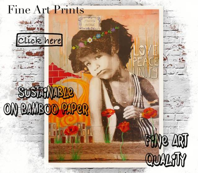 sustainable art prints on bamboo paper