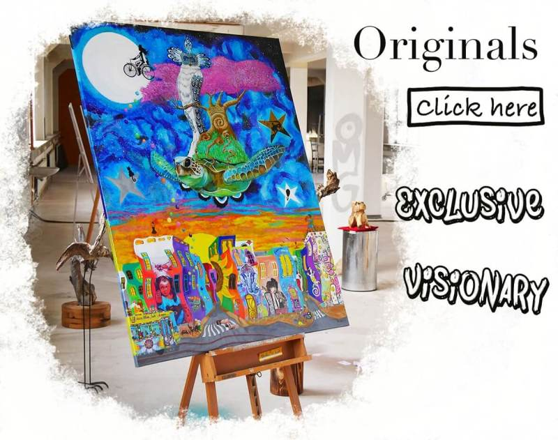 exclusive and visionary original paintings by blueberry beach
