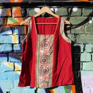 upcycled indian decorated vintage top