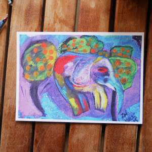 an elephant can fly by zoé keleti postcard