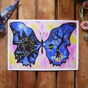 buddhafyl butterfly postcard by zoé keleti