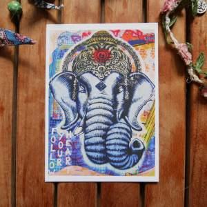 ganesha postcard by joshua parksteinhoff