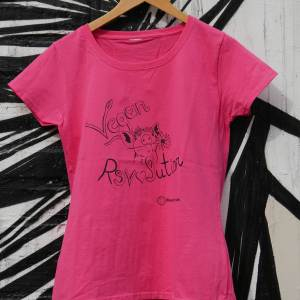 vegan revolution pink t-shirt