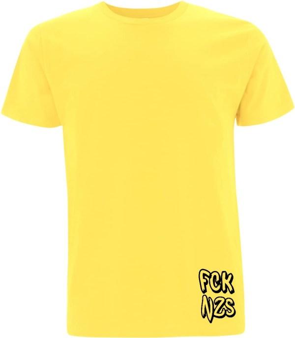 FCK nzs yellow organic t-shirt