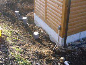 トイレ棟上下水道工事