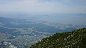 伊吹山山頂から望む琵琶湖