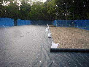 防草シート敷き
