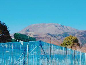 園地から見える伊吹山