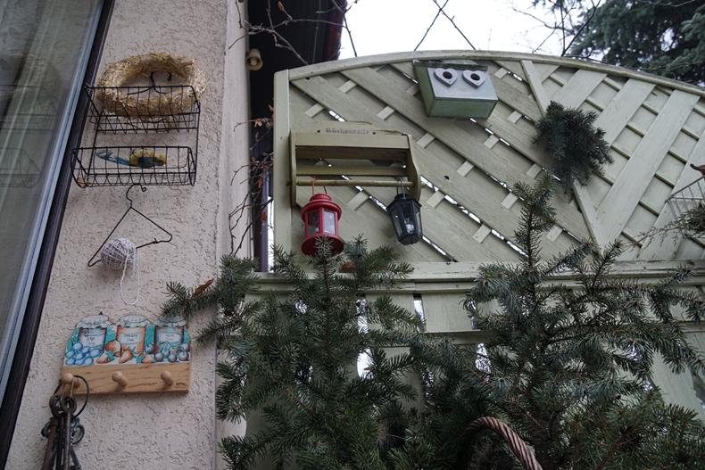 Christmas terrace