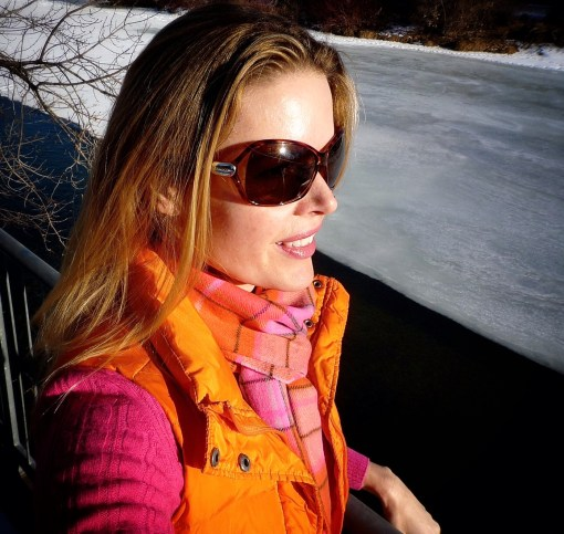 Tiffany Burns orange vest