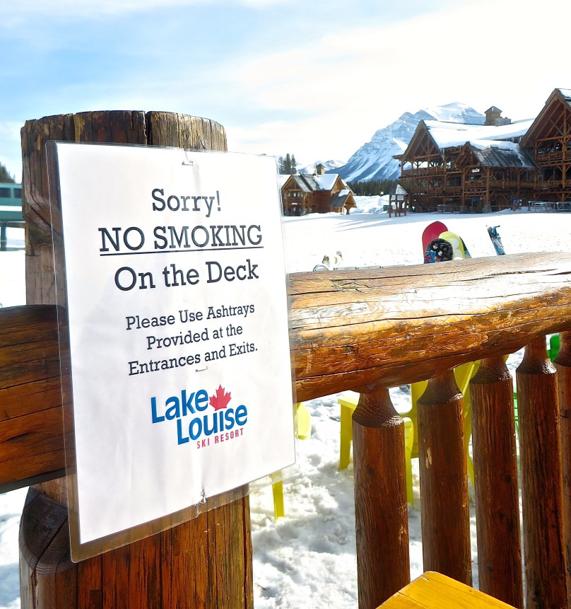 Sorry No Smoking Lake Louise