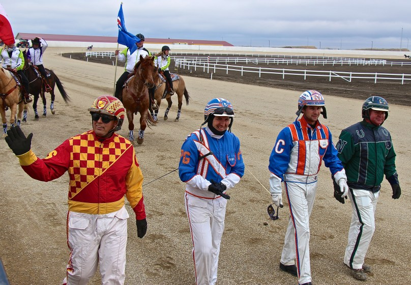 Drivers on Opening Day at Century Downs
