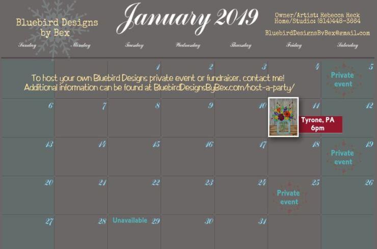Calendar JAN2019