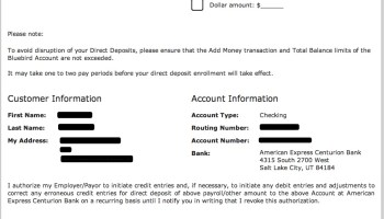 Bluebird Routing Number and Account Information - American