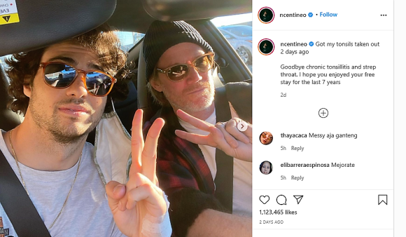 Noah Centineo GETS  Tonsils Removed After 7 years of CHRONIC Tonsillitis.
