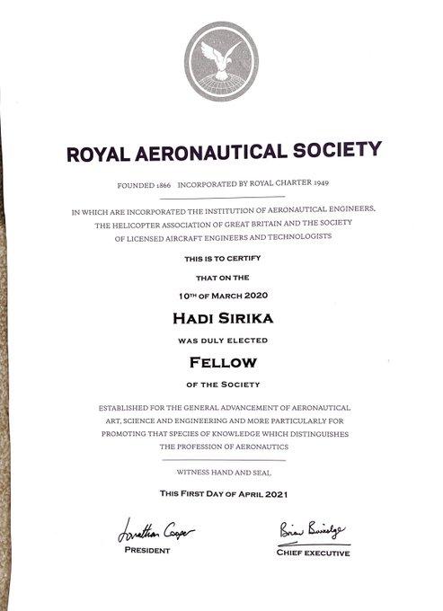 Nigeria Minister Of Aviation Sen @hadisirika Gets Elected As Fellow Royal Aeronautical Society .