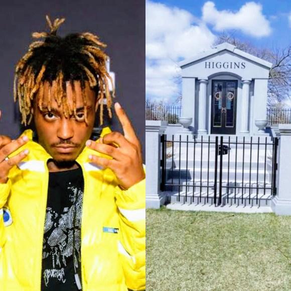 Grave Site Of Late American Rapper Juice Wrld Finally Complete.  #juicewrld