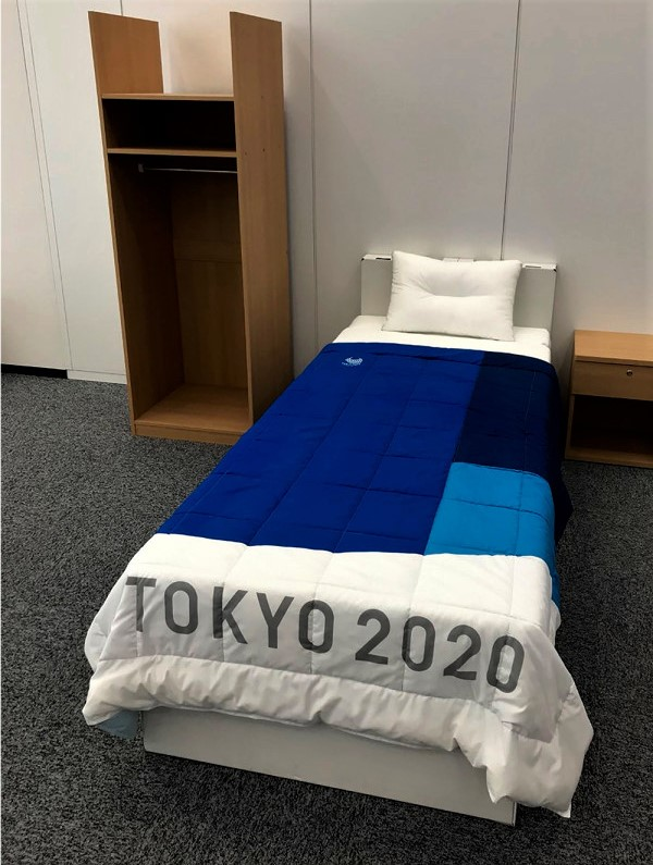 Tokyo 2020 Olympics : Cardboard Bed Installed Inside Olympics Village To Prevent Athletes From Having Sex.