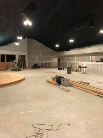 The sheetrock is repaired now thanks to some assistance of a Missouri-based church.