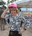 Kingwood Medical Center CEO Melinda Stephenson donned a pink hard hat for the groundbreaking for KMC's new freestanding emergency department in Cleveland on Friday.