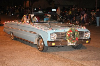 Antique cars were part of the entries in the Country Christmas parade on Nov. 27 in Liberty.