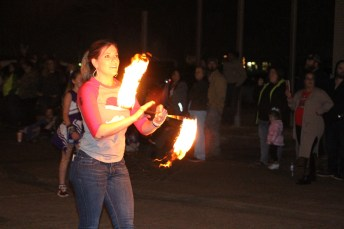 They say if you play with fire, you are going to get burned. However, this talented twirler wasn't burned as she delighted spectators at the Country Christmas parade in Liberty on Nov. 27.