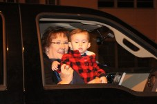 Ann Kebodeaux is pictured with grandson, Andrew Cook, at the Country Christmas parade in Liberty on Nov. 27.