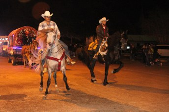 These dancing horses delighted spectators at Country Christmas on Nov. 27 in Liberty.