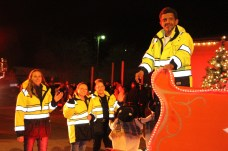 Liberty firefighters accompanied Santa in the Country Christmas parade on Nov. 27 in Liberty.