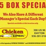 Chicken express July 2019