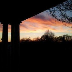 Sunset at the Endicott Estates