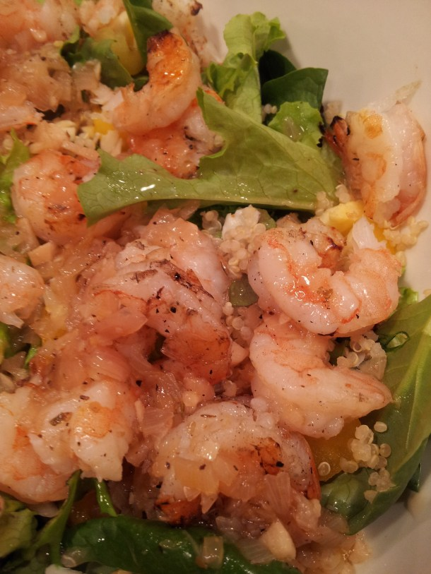 Up Close and Personal with the Grilled Shrimp Salad