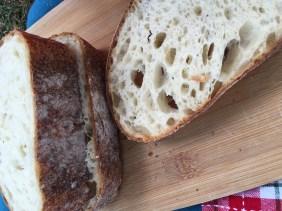 clear flour sourdough bread