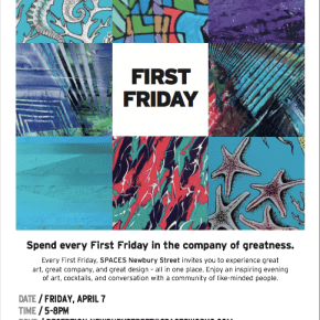 Join me at First Friday in Boston next Friday on April 7 for art, conversation, delights