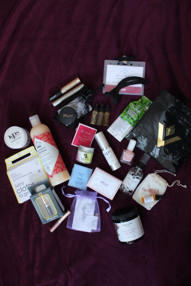 organic beauty brands - well summit swag bag