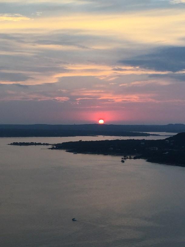 Sunset over Lake Travis