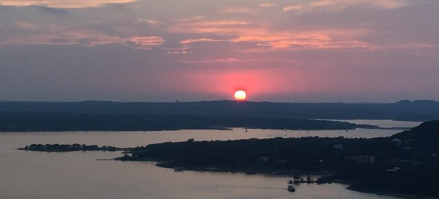 Sunset over Lake Travis