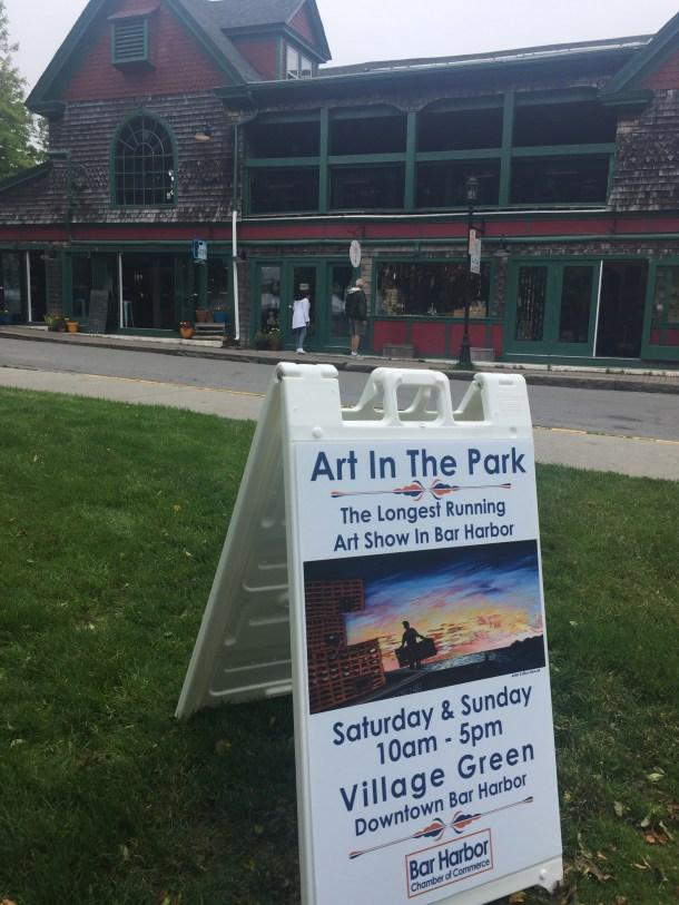 Art in the Park, Bar Harbor, Maine summer