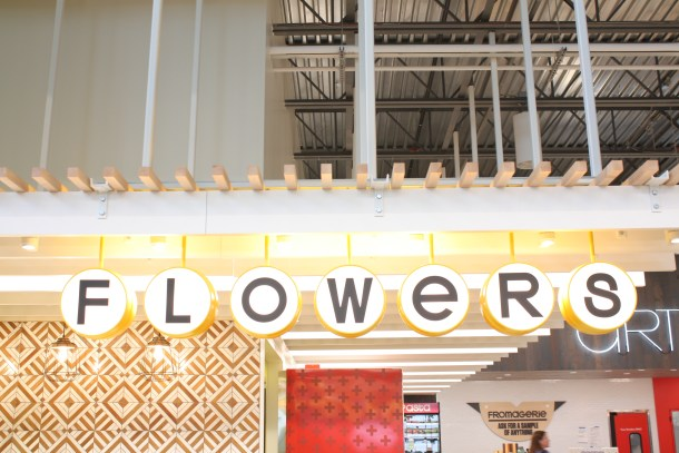 Retro Flowers at Whole Foods