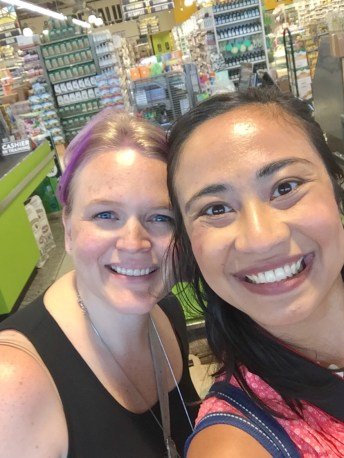 """I love seeing fellow blogger friends like Amanda (primandpropah.com) out in the """"wild."""""""