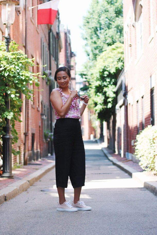 Boston Blogger BlueBootsGo in Beacon Hill - FT Brass Clothing & M.Gemi