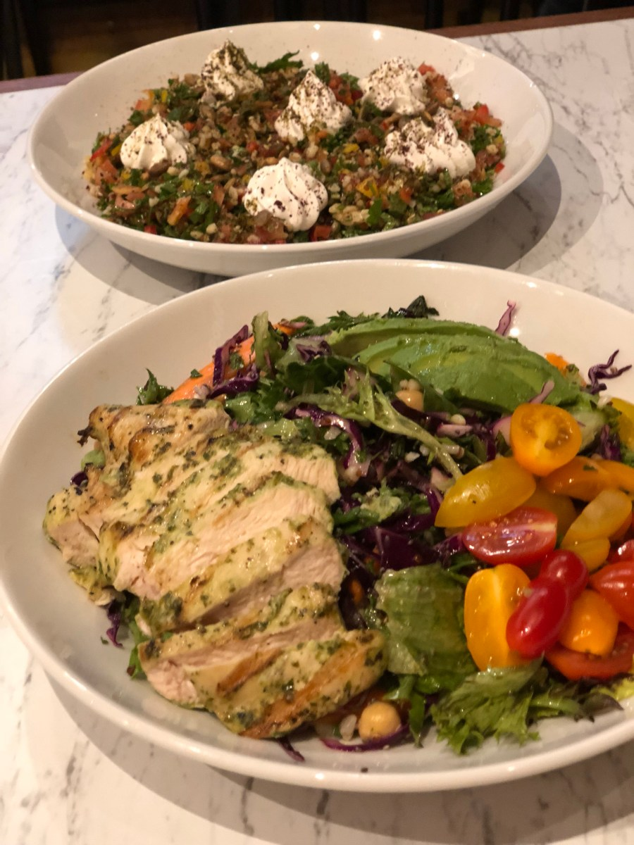 Chicken Salad & Lebanese Salad - Cafe Landwer - Where the BlueBoots Go