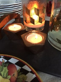 cb2 gami tealight holder
