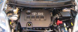 トヨタ アイシス 汚れたエンジンルームクリーニング