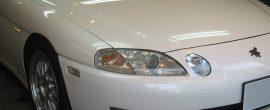 トヨタ ソアラ フロントガラスの傷磨き除去