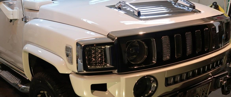 ハマー H3 子供に夢を与える車です!ガラスコーティング