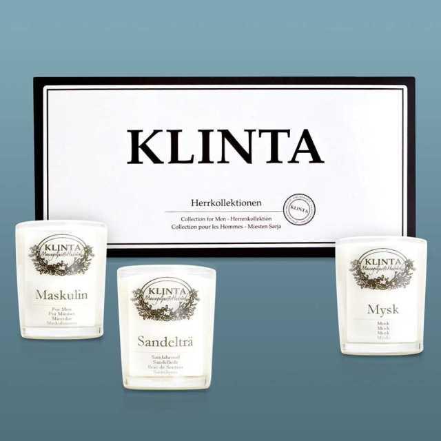 Klinta massageljus / doftljus - Herrkollektionen (3-pack) Image