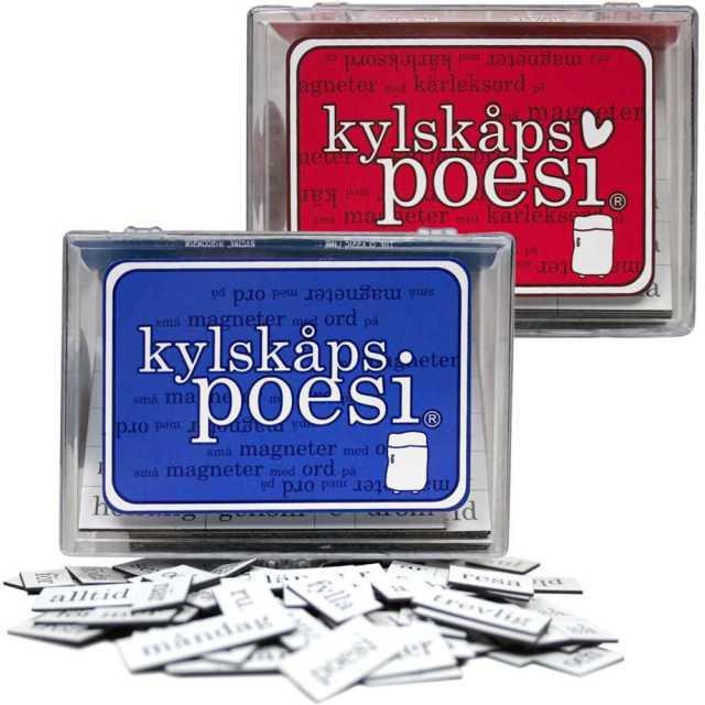 Kylskåpspoesi - Magneter med ord Image