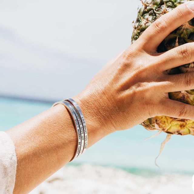 Armband med budskap - Cuff, Silver Image
