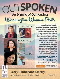 Outspoken: An Evening of Outstanding Washington Women Poets @ Lacey Timberland Library